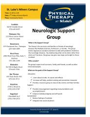 Stroke Support Group, via St Lukes Hospital, Coaldale-page