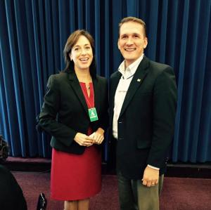Special to TamaquaArea.com / Pictured at the White House are Dr. Karen DeSalvo, Acting Assistant Secretary of Health, with Micah Gursky, Tamaqua Borough Council President.