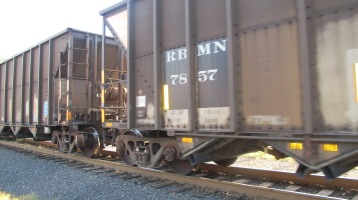 Train Passing in front of Tamaqua Train Station, Tamaqua, 9-15-2015 (15)
