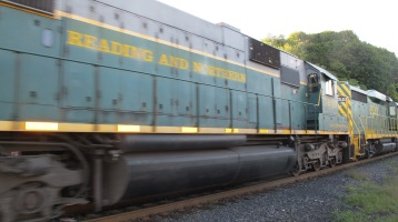 Train Passing in front of Tamaqua Train Station, Tamaqua, 9-15-2015 (3)