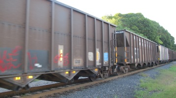 Train Passing in front of Tamaqua Train Station, Tamaqua, 9-15-2015 (5)