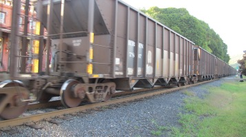 Train Passing in front of Tamaqua Train Station, Tamaqua, 9-15-2015 (8)