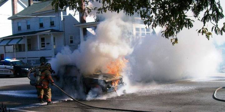 Vehicle, Truck Fire, from Joe Nihen, Lansford, 10-4-2015 (1)