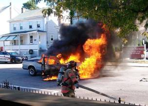 Vehicle, Truck Fire, from Joe Nihen, Lansford, 10-4-2015 (2)
