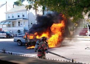 Vehicle, Truck Fire, from Joe Nihen, Lansford, 10-4-2015 (2)