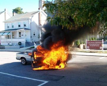 Vehicle, Truck Fire, from Joe Nihen, Lansford, 10-4-2015 (5)