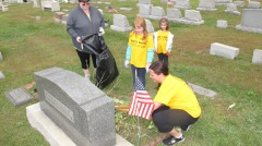 Volunteers Cleaning GAR Cemetery, Summit Hill, 9-13-2015 (10)