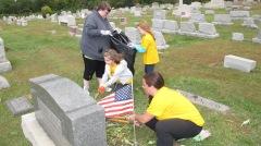 Volunteers Cleaning GAR Cemetery, Summit Hill, 9-13-2015 (11)
