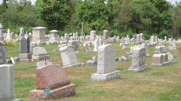 Volunteers Cleaning GAR Cemetery, Summit Hill, 9-13-2015 (14)