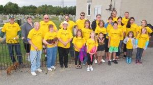 Volunteers Cleaning GAR Cemetery, Summit Hill, 9-13-2015 (4)