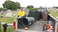 Volunteers Cleaning GAR Cemetery, Summit Hill, 9-13-2015 (6)