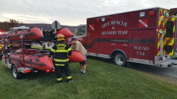 Water Rescue Response, Tuscarora State Park, Barnesville, 10-31-2015 (103)