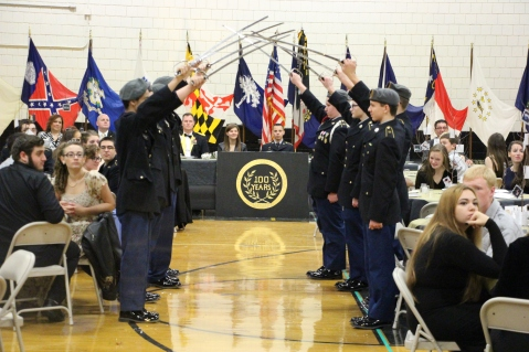 100th Anniversary Celebration of Panther Valley JROTC, PV High School, Lansford, 11-14-2015 (1)