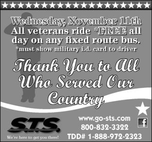 11-11-2015, Veterans Ride Free, Schuylkill Transportation System