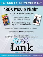 11-14-2015, Movie Night, benefits The Link, Angela Triplex Theatre, Coaldale