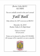 11-14-2015, Panther Valley JROTC Alumni Fall Ball, Celebrating 100 Years, PV Jr, Sr High School, Lansford