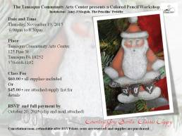 11-19-2015, Colored Pencil Workshop, theme Country Joy Santa Classic Clippy, Tamaqua Community Arts Center, Tamaqua (2)