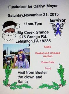 11-21-2015, Benefit Fundraiser for Caitlyn Moyer, Big Creek Grange, Lehighton