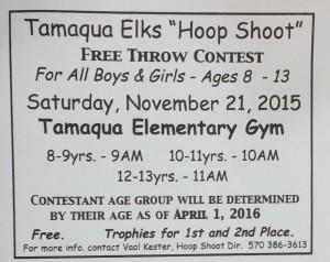 11-21-2015, Tamaqua Elks Hoop Shoot, Ages 8 to 13, Tamaqua Elementary School, Tamaqua (2)