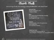 11-22-2015, Church Chalk Fundraiser, Zion's Stone Church, West Penn