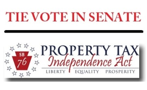 11-24-2015, Tie Vote in Senate, Pennsylvania Property Tax Independence Act