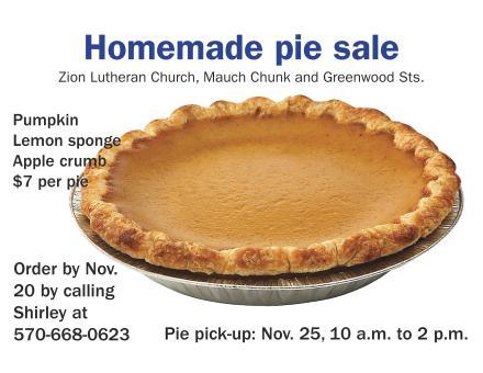 11-25-2015, Pie Fundraiser Pickup, Zion Lutheran Church, Tamaqua