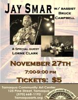 11-27-2015, Jay Smar performs, Tamaqua Community Arts Center, Tamaqua