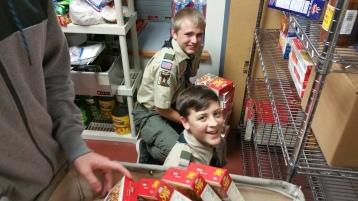 11-5-2015, Barnesville Boy Scout Troop 725 Sort Food Donations, Tamaqua Salvation Army, Tamaqua (11)