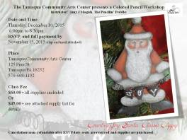 12-10-2015, Colored Pencil Workshop - Santa Classic Clippy, Tamaqua Community Arts Center, Tamaqua (1)