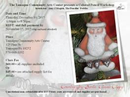 12-10-2015, Colored Pencil Workshop - Santa Classic Clippy, Tamaqua Community Arts Center, Tamaqua (1)