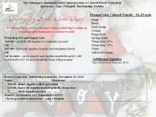 12-10-2015, Colored Pencil Workshop - Santa Classic Clippy, Tamaqua Community Arts Center, Tamaqua (2)