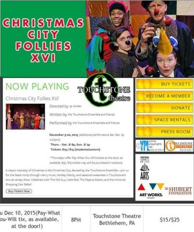 12-10-2015, TCAC Trip to watch Christmas City Follies XVI, Touchstone Theatre, Bethlehem