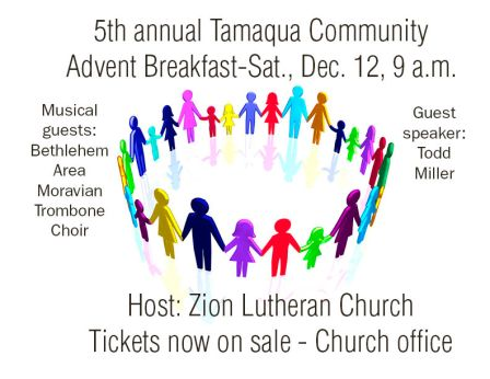 12-12-2015, Tamaqua Community Advent Breakfast, Zion Evangelical Lutheran Church, Tamaqua (2)