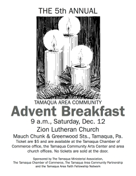 12-12-2015, Tamaqua Community Advent Breakfast, Zion Evangelical Lutheran Church, Tamaqua (3)