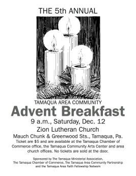 12-12-2015, Tamaqua Community Advent Breakfast, Zion Evangelical Lutheran Church, Tamaqua (3)