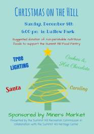 12-6-2015, Christmas on the Hill, Ludlow Park, Summit Hill