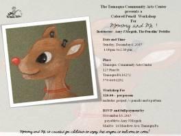 12-6-2015, Colored Pencil Workshop - Mommy and Me Rudolf, Tamaqua Community Arts Center, Tamaqua