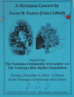 12-6-2015, Voice Lifted, Susan Featro, Sprit of the Holidays, Tamaqua Community Arts Center, Tamaqua (2)