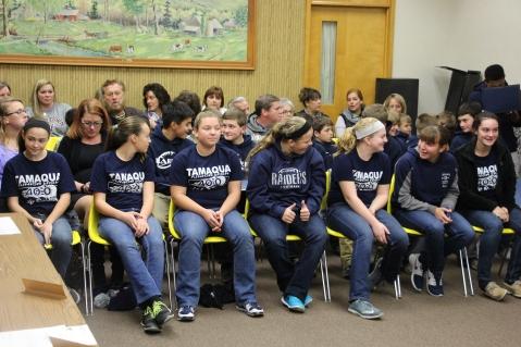 8th Grade Girls Basketball Team Recognized, Tamaqua Borough Council Meeting, Borough H (2)