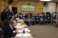 8th Grade Girls Basketball Team Recognized, Tamaqua Borough Council Meeting, Borough H (3)