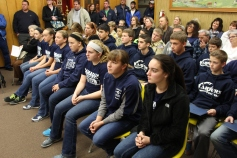 8th Grade Girls Basketball Team Recognized, Tamaqua Borough Council Meeting, Borough H (6)