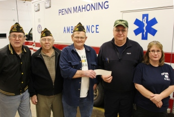 Andreas VFW Donates $1000 to Penn Mahoning Ambulance, West Penn, 11-11-2015 (15)