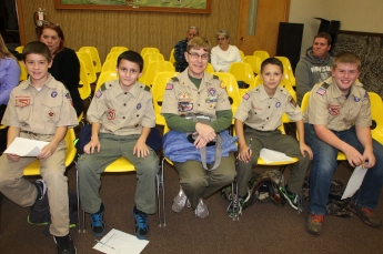 Earning Communications Badge, Tamaqua Scouts, Borough Council Meeting, Tamaqua (4)