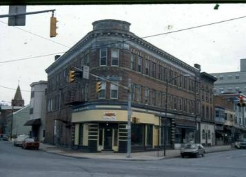 Flat Iron Building, 101 E. Broad Street, THEN