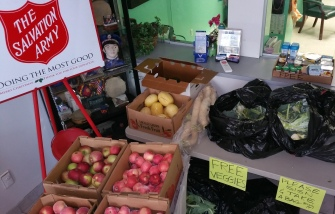 Free Fruits and Vegetables, donated by Dunn's Farm Market, Salvation Army, Tamaqua, 11-6-2015 (6)