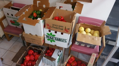 Free Fruits and Vegetables, donated by Dunn's Farm Market, Salvation Army, Tamaqua, 11-6-2015 (7)