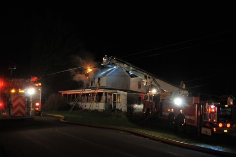 House Fire, 252 Hillside Drive, Barnesville, 11-22-2015, from Coal Region Barrett (1)