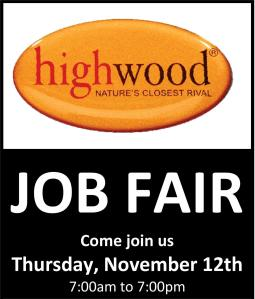 Job Fair Ad for Highwood USA LLC, Hometown, 11-9-2015
