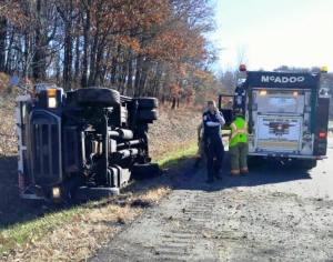 Overturned Armored Vehicle, Possible Confinement, Interstate 81, Kline Township, 11-3-2015 4