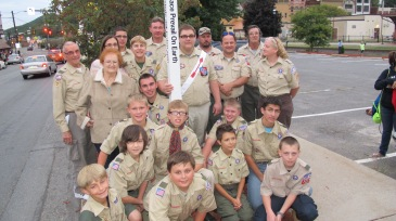 Peace Pole Dedication, Tamaqua Boy Scout, Train Station lot, Tamaqua, 9-21-2015 (21)